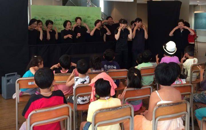 本格的なペープサートに子どもたちは真剣!